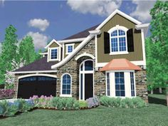 DHSW66895 Traditional Style 2 story 4 bedrooms(s) House Plan with 2820 total square feet and 3 Full Bathroom(s) from Dream Home Source House Plans