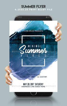 Summer Flyer Template PSD