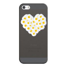 iPhone 6 Plus/6/5/5s/5c Case - DAISY HEART iPhone 5 Transparent (46 CAD) ❤ liked on Polyvore featuring accessories, tech accessories, phone cases, phones, iphone case, iphone cover case, apple iphone cases and transparent iphone case