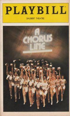Playbill from A CHORUS LINE