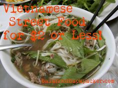 Food in Vietnam a Guide to Amazing Food for Cheap! #balancedbackpacker #travel #food