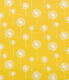 Small Dandelion Corn Yellow Slub | Online Discount Drapery Fabrics and Upholstery Fabric Superstore!  $8.47