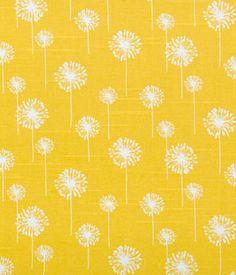 Small Dandelion Corn Yellow Slub   Online Discount Drapery Fabrics and Upholstery Fabric Superstore!