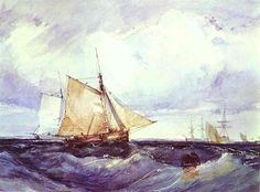 A+Cutter+and+other+Ships+in+a+Strong+Breeze,+1827+-+Richard+Parkes+Bonington
