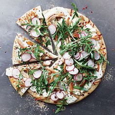 Chicken, Arugula, and Radish Pizza | MyRecipes.com This was surprisingly WONDERFUL!  And very simple to make.  Made it one night when I realized I had everything in house.