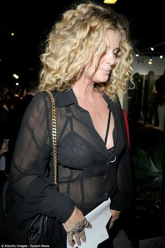 Firm friends: She was in good company on the night as she was also joined by a host of other celebrities, including Kourtney Kardashian and Selma Blair Rachel Hunter, Selma Blair, See Through Blouse, Kourtney Kardashian, Sheer Blouse, Celebrities, Models, Night, Friends