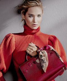 Jennifer Lawrence by Patrick Demarchelier for Dior's F/W 2016 handbag campaign
