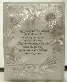 Wedding Card- I like this verse  could create on computer