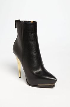 Free shipping and returns on Lanvin Metal Heel Boot at Nordstrom.com. A gilded heel elevates the structured personality of a prim platform boot with a chic pointy toe.