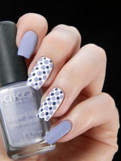 Kiko 635 & Zoya Sunshine, inspired by Raggio di Luna Nails http://raggio-di-luna-nails.blogspot.fi/2013/10/textured-blue-dots-on-white.html