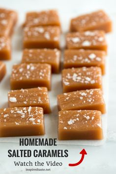 How to make homemade salted caramels on inspiredtaste.net