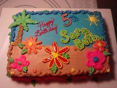 Luau Cake 1/4 sheet
