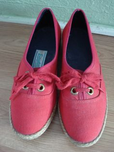 Vintage 1970s Browsabout Tennis Shoes Lipstick Red by bycinbyhand, $34.00