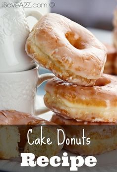 If you liked our old Simple Donut Recipe, then you will be sure to find out Cake Donuts Recipe even better! Check out this quick and amazing donut recipe! Donut Pan Recipe, Baked Donut Recipes, Baked Doughnuts, Baking Recipes, Cake Recipes, Dessert Recipes, Desserts, Fried Cake Donut Recipe, Simple Donut Recipe