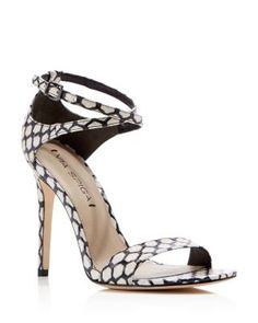 be29d1c587f Via Spiga Tiara Snake-Embossed Ankle Strap High Heel Sandals Shoes - Sandals  - Bloomingdale s. Strappy ...