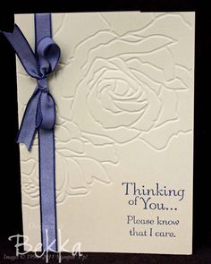sympathy cards stampin up | Sympathy cards are never easy to make, and for me the key is keeping ...