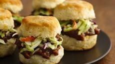 Barbecued Pork Biscuit Sliders sub with Chicken instead...hmmm