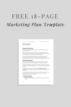 Free Marketing Plan Template!