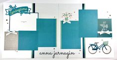 "Cricut CTMH ""You are Here""designs & Gimme Some Sugar CTMH paper collection. Layout by Anna Jarnagin."