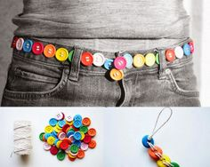 DIY : Beautiful Button Belt