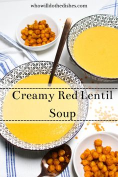 Just carrots, onions, red lentils, red peppers, and some spices are all you need for a homemade Creamy Red Lentil Soup. It is made in only one pod and will feed your whole family. #soup #lentilsoup #lentil #redlentil #creamysoup #creamyredlentilsoup #curry #lunch #dinner #vegetarian