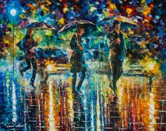 People figures paintings by Leonid Afremov - https://afremov.com/People-and-Figures/
