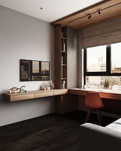 Study Room Design, Room Design Bedroom, Kids Room Design, Home Room Design, House Design, Workspace Design, Office Interior Design, Home Office Decor, Apartment Interior