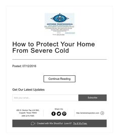 How to Protect Your Home From Severe Cold