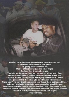 You're Never Over - Eminem. Rest in peace, Proof...