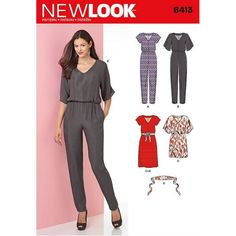 englisches Schnittmuster NewLook 6413 Overall A 8-20 (34-46)