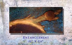 Copper Art Abstract Patina Painting Clay Fire 12 x by Copperhead
