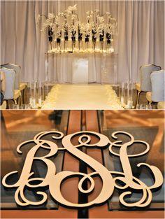 Simple and elegant wedding ceremony decor ~ Photo: Tambi Howard Photography
