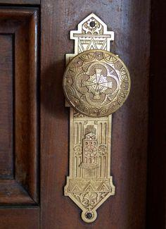Eastlake Style Doorknob at Arden Hearth, an Elegant Victorian Home in Richmond, IN