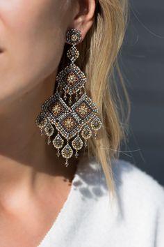 Make your dreams come true with these handmade chandelier earrings. #chandelier #jewellery #designer #handmade