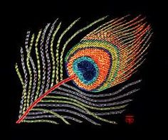 Or Nue Peacock Feather Goldwork Hand Embroidery by Tanja Berlin: Berlin Embroidery Designs