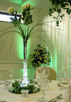 Base led vase soliflore mariage pas cher
