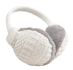 Butterfly with White Dark Wings Winter Earmuffs Ear Warmers Faux Fur Foldable Plush Outdoor Gift