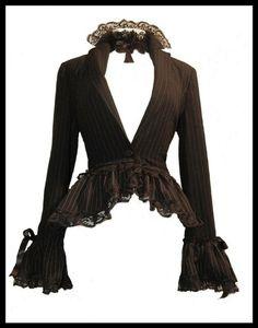 Gothic Bustle Steampunk Jacket Victorian