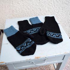 Partnerské rukavice - černomodré