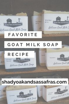 My favorite goat milk soap recipe- simple and perfect every time! – Shady Oak an… My favorite goat milk soap recipe- simple and perfect every time! – Shady Oak and Sassafras Handmade Soap Recipes, Soap Making Recipes, Handmade Soaps, Diy Soaps, Goat Milk Recipes, Goat Milk Soap, Shampoo Bar, Cold Process Soap, Home Made Soap