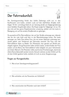 Free worksheets and exercises for short stories for the German . Deutsch Language, German Grammar, Work Hard In Silence, German Language Learning, Learn German, Home Schooling, Reading Comprehension, Fun Learning, Short Stories