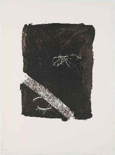 lithograph by Antonio Tapies