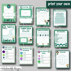 Girl Scouts Juniors Scrapbook Pages 12 by MyFashionableDesigns
