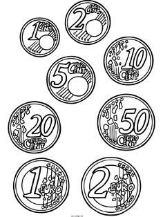 Risultati immagini per euros para colorear Primary Maths, Primary School, Elementary Schools, Teaching Tools, Teaching Math, Box Template Printable, Homework Club, Teaching Geography, Play Money