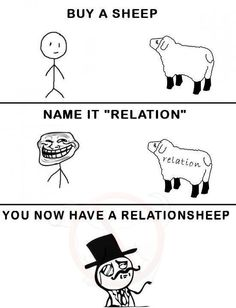 forever alone, funny, haha, relationsheep, relationship