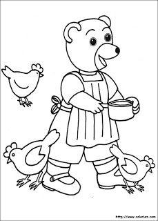 Coloriage petit ours brun l 39 ecole back to school pinterest - Petit ours dessin anime ...
