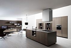 Kitchen  Black  Chandelier  Stainless  Steel  Kitchen  Hood  Brown  Dinning  Table  Brown  Kitchen  Island  Brown  Cabinet  Grey  Reading  C...