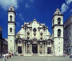 Cathedral in the Plaza de la Catedral, Havana, Cuba  My great aunt was married there before Castro.