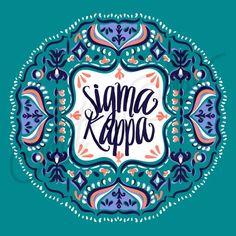 Sorority Recruitment Sigma Kappa Boho Frame South By Sea