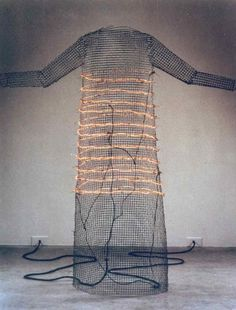 (The Dress) by Jana Sterbak 1984 http://janasterbak.com/imageoeuvre/index.php?album=i-want-you-to-feel-the-way-i-do